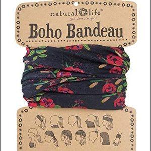 Black Printed Boho Bandeau
